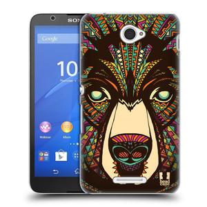 Plastové pouzdro na mobil Sony Xperia E4 E2105 HEAD CASE AZTEC MEDVĚD