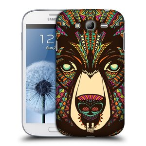 Plastové pouzdro na mobil Samsung Galaxy Grand Neo Plus HEAD CASE AZTEC MEDVĚD