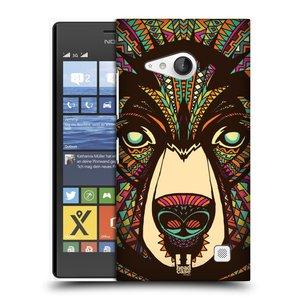 Plastové pouzdro na mobil Nokia Lumia 735 HEAD CASE AZTEC MEDVĚD