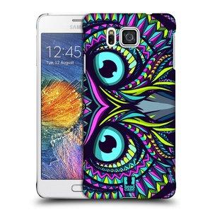 Plastové pouzdro na mobil Samsung Galaxy Alpha HEAD CASE AZTEC SOVA