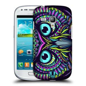 Plastové pouzdro na mobil Samsung Galaxy S III Mini HEAD CASE AZTEC SOVA