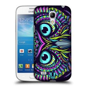 Plastové pouzdro na mobil Samsung Galaxy S4 Mini VE HEAD CASE AZTEC SOVA