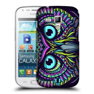 Plastové pouzdro na mobil Samsung Galaxy S Duos 2 HEAD CASE AZTEC SOVA