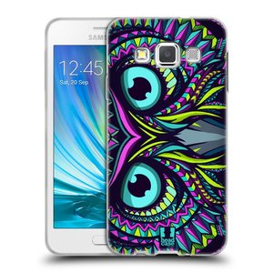 Silikonové pouzdro na mobil Samsung Galaxy A3 HEAD CASE AZTEC SOVA