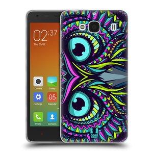 Silikonové pouzdro na mobil Xiaomi Redmi 2 HEAD CASE AZTEC SOVA