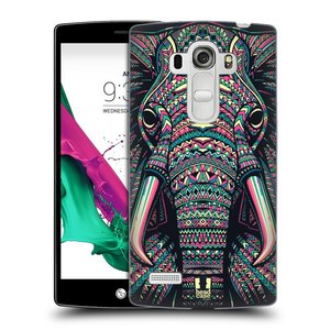 Plastové pouzdro na mobil LG G4s HEAD CASE AZTEC SLON