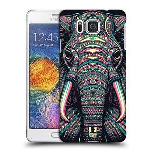 Plastové pouzdro na mobil Samsung Galaxy Alpha HEAD CASE AZTEC SLON