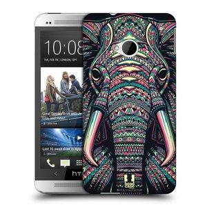 Plastové pouzdro na mobil HTC ONE M7 HEAD CASE AZTEC SLON