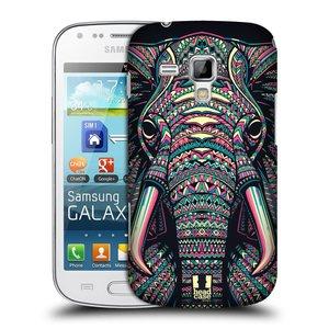 Plastové pouzdro na mobil Samsung Galaxy Trend HEAD CASE AZTEC SLON