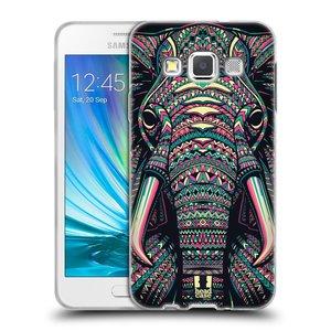 Silikonové pouzdro na mobil Samsung Galaxy A3 HEAD CASE AZTEC SLON