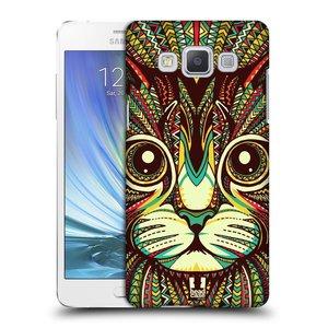 Plastové pouzdro na mobil Samsung Galaxy A5 HEAD CASE AZTEC KOČKA