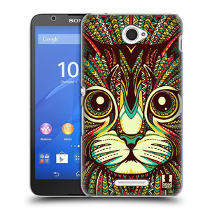 Plastové pouzdro na mobil Sony Xperia E4 E2105 HEAD CASE AZTEC KOČKA