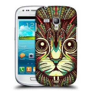 Plastové pouzdro na mobil Samsung Galaxy S III Mini HEAD CASE AZTEC KOČKA