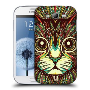 Plastové pouzdro na mobil Samsung Galaxy Grand Neo Plus HEAD CASE AZTEC KOČKA