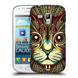 Plastové pouzdro na mobil Samsung Galaxy Trend HEAD CASE AZTEC KOČKA