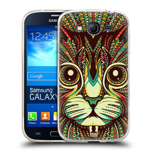Silikonové pouzdro na mobil Samsung Galaxy Grand Neo Plus HEAD CASE AZTEC KOČKA