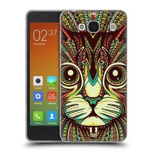 Silikonové pouzdro na mobil Xiaomi Redmi 2 HEAD CASE AZTEC KOČKA
