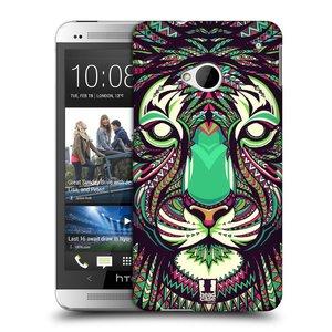 Plastové pouzdro na mobil HTC ONE M7 HEAD CASE AZTEC TYGR