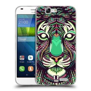 Silikonové pouzdro na mobil Huawei Ascend G7 HEAD CASE AZTEC TYGR