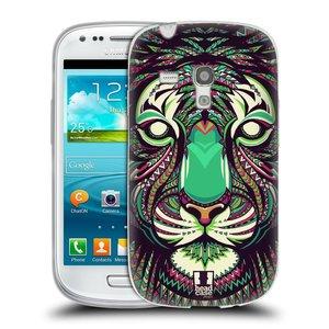 Silikonové pouzdro na mobil Samsung Galaxy S III Mini HEAD CASE AZTEC TYGR