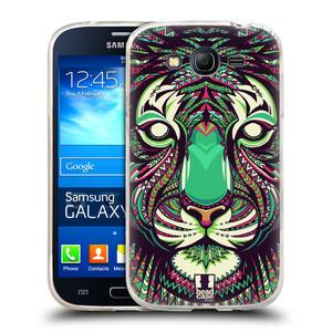 Silikonové pouzdro na mobil Samsung Galaxy Grand Neo Plus HEAD CASE AZTEC TYGR