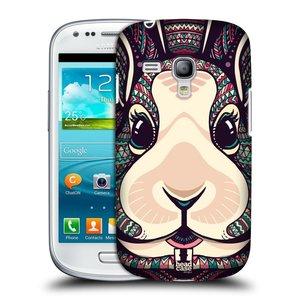 Plastové pouzdro na mobil Samsung Galaxy S III Mini HEAD CASE AZTEC ZAJÍČEK