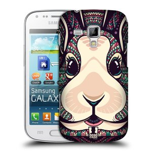 Plastové pouzdro na mobil Samsung Galaxy Trend HEAD CASE AZTEC ZAJÍČEK