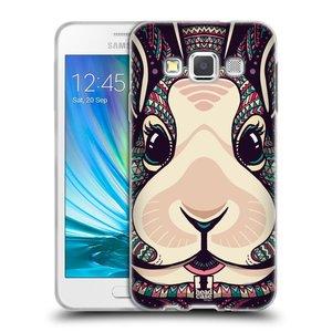 Silikonové pouzdro na mobil Samsung Galaxy A3 HEAD CASE AZTEC ZAJÍČEK