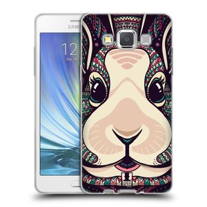 Silikonové pouzdro na mobil Samsung Galaxy A5 HEAD CASE AZTEC ZAJÍČEK