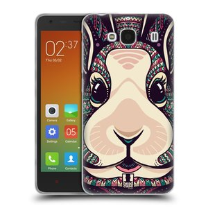 Silikonové pouzdro na mobil Xiaomi Redmi 2 HEAD CASE AZTEC ZAJÍČEK