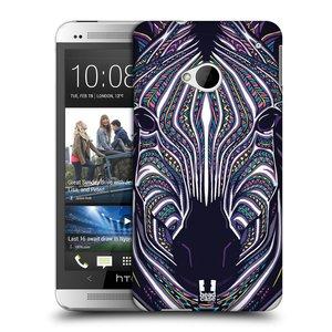 Plastové pouzdro na mobil HTC ONE M7 HEAD CASE AZTEC ZEBRA