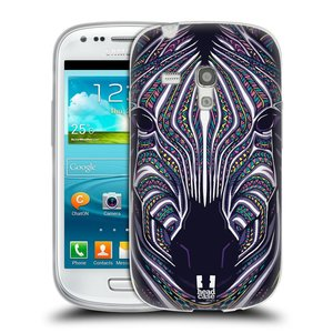 Silikonové pouzdro na mobil Samsung Galaxy S III Mini HEAD CASE AZTEC ZEBRA