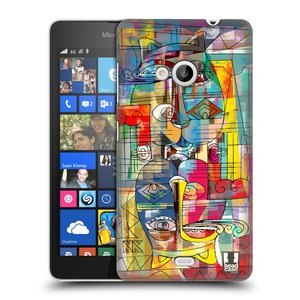 Plastové pouzdro na mobil Microsoft Lumia 535 HEAD CASE AZTEC MANX