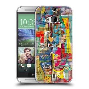 Silikonové pouzdro na mobil HTC ONE M8 HEAD CASE AZTEC MANX