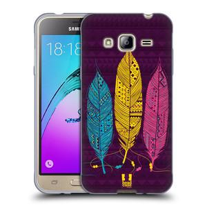 Silikonové pouzdro na mobil Samsung Galaxy J3 (2016) HEAD CASE AZTEC PÍRKA 3 BAREV