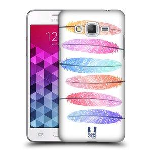 Plastové pouzdro na mobil Samsung Galaxy Grand Prime HEAD CASE AZTEC PÍRKA SILUETY
