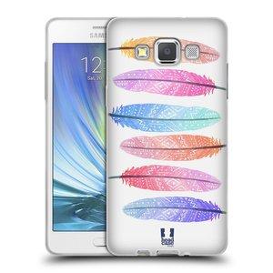 Silikonové pouzdro na mobil Samsung Galaxy A5 HEAD CASE AZTEC PÍRKA SILUETY
