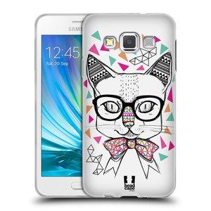 Silikonové pouzdro na mobil Samsung Galaxy A3 HEAD CASE AZTEC KOČIČKA