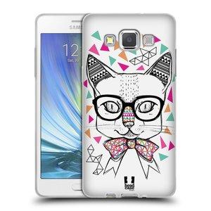 Silikonové pouzdro na mobil Samsung Galaxy A5 HEAD CASE AZTEC KOČIČKA