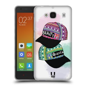Silikonové pouzdro na mobil Xiaomi Redmi 2 HEAD CASE AZTEC ČAPKY