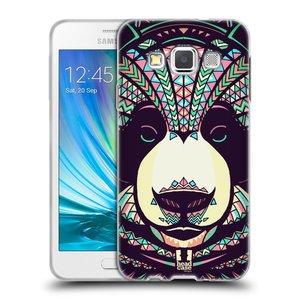 Silikonové pouzdro na mobil Samsung Galaxy A3 HEAD CASE AZTEC PANDA