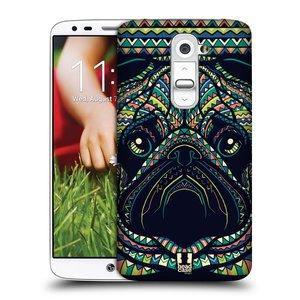 Plastové pouzdro na mobil LG G2 HEAD CASE AZTEC MOPS