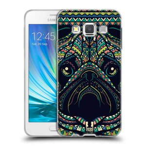 Silikonové pouzdro na mobil Samsung Galaxy A3 HEAD CASE AZTEC MOPS