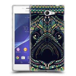 Silikonové pouzdro na mobil Sony Xperia M2 D2303 HEAD CASE AZTEC MOPS