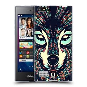 Silikonové pouzdro na mobil Blackberry Leap HEAD CASE AZTEC VLK