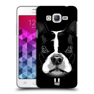 Plastové pouzdro na mobil Samsung Galaxy Grand Prime VE HEAD CASE ILUSTROVANÝ BULDOČEK