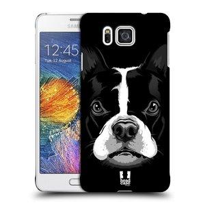 Plastové pouzdro na mobil Samsung Galaxy Alpha HEAD CASE ILUSTROVANÝ BULDOČEK