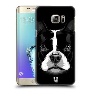 Plastové pouzdro na mobil Samsung Galaxy S6 Edge Plus HEAD CASE ILUSTROVANÝ BULDOČEK