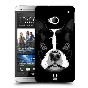 Plastové pouzdro na mobil HTC ONE M7 HEAD CASE ILUSTROVANÝ BULDOČEK