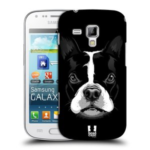 Plastové pouzdro na mobil Samsung Galaxy S Duos 2 HEAD CASE ILUSTROVANÝ BULDOČEK